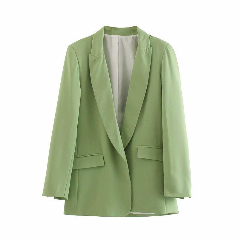 03oz7-9225 Europe And America WOMEN'S Dress 2019 Autumn New Products Mid-length Pocket-Accent Suit Jacket