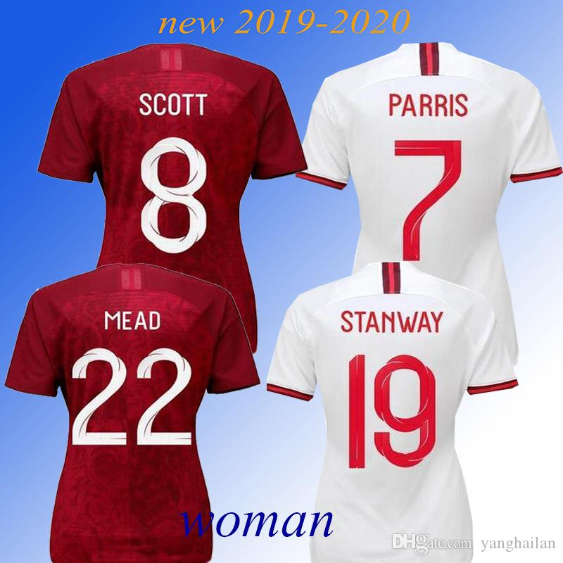 England World Cup Jersey 2020.2019 New 2019 England Women Soccer Jerseys World Cup 2020 Home Red Kane Sterling Vardy Rashford Dele Football Shirts From Yanghailan 17 91