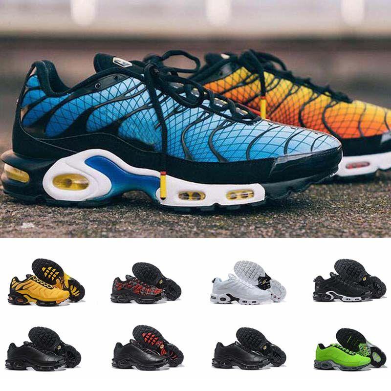 2020 새로운 플러스 테네시 괜찮다 욕심 실행 신발 남성 트레이너 CHAUSSURES TNS 울트라 통기성 스니커즈 Zapatillas 드 스포츠 SCHUHE 크기 40-46
