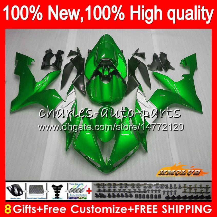 Cuerpo para YAMAHA YZF R1 YZF1000 1000 CC luz verde YZF1000 1000CC 63HC.77 YZF R1 04-06 YZFR1 YZFR1 04 05 06 2004 2005 2006 carenado kit