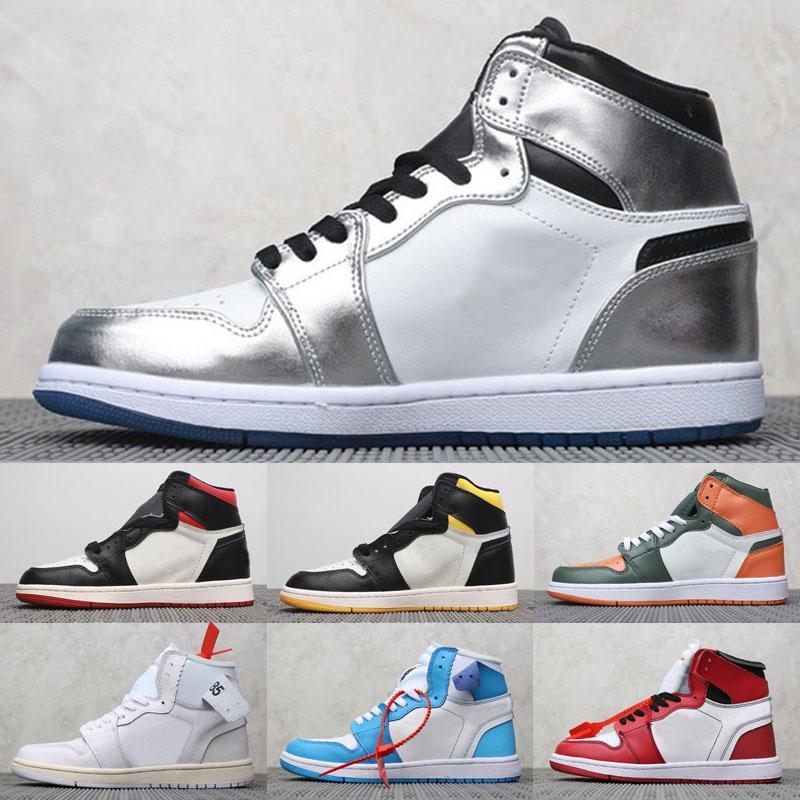 2020 nueva Mediados OG Jumpman 1 3 primeros hombres botas zapatos 1s Homenaje Inicio Banned Bred Chicago Real roto azul del tablero trasero de pasar la antorcha Botas