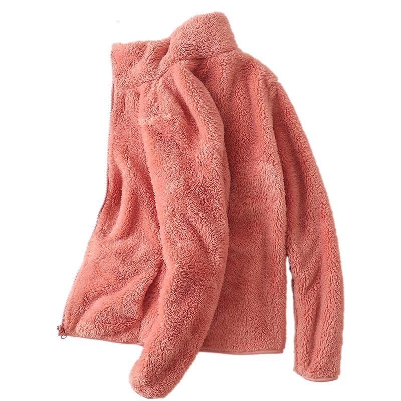 2019 Yeni Kış Sonbahar Kadın Yumuşak Polar Kapüşonlular Ceketler Moda Günlük Uzun Kollu Windproof Coats S-XXL V191029