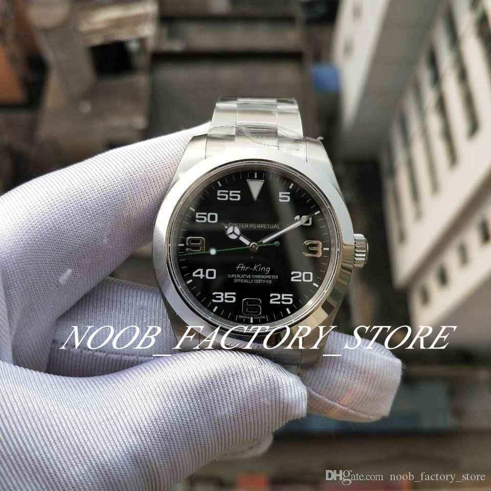 Luxus Beste BP-Fabrik Auflage New Air -King 40mm Ref. 116900 Asia 2813 Automatikwerk Edelstahl Tauchen Lumen Uhruhrmanmannuhr