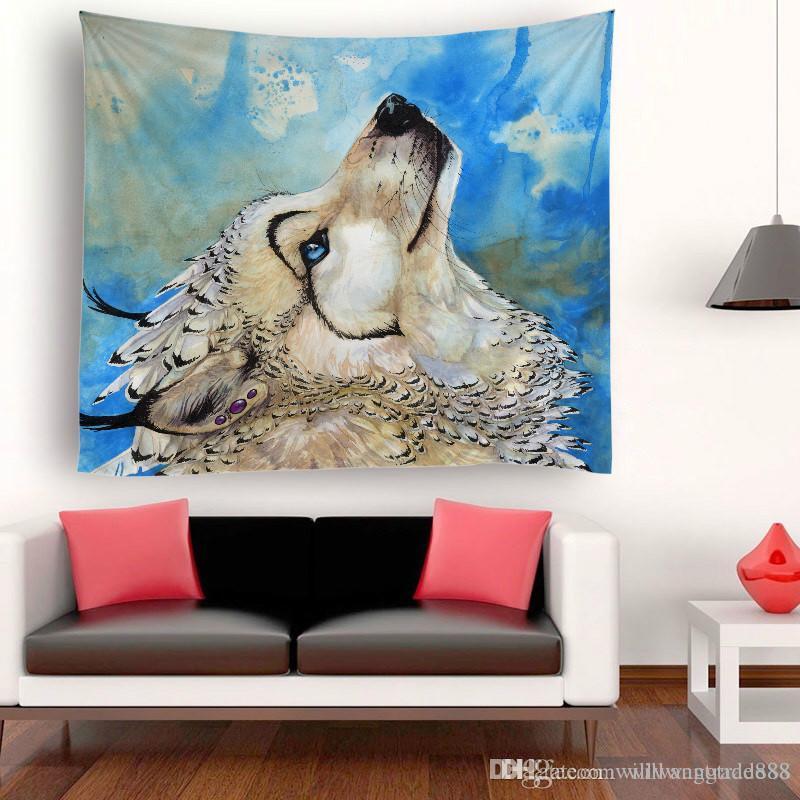 230x150cm favori Lion Animaux styles Accueil Pont Polyester mur Art Décoration Hanging Tapisserie Throw Yoga Mat Indian Beach Châle Serviette de bain