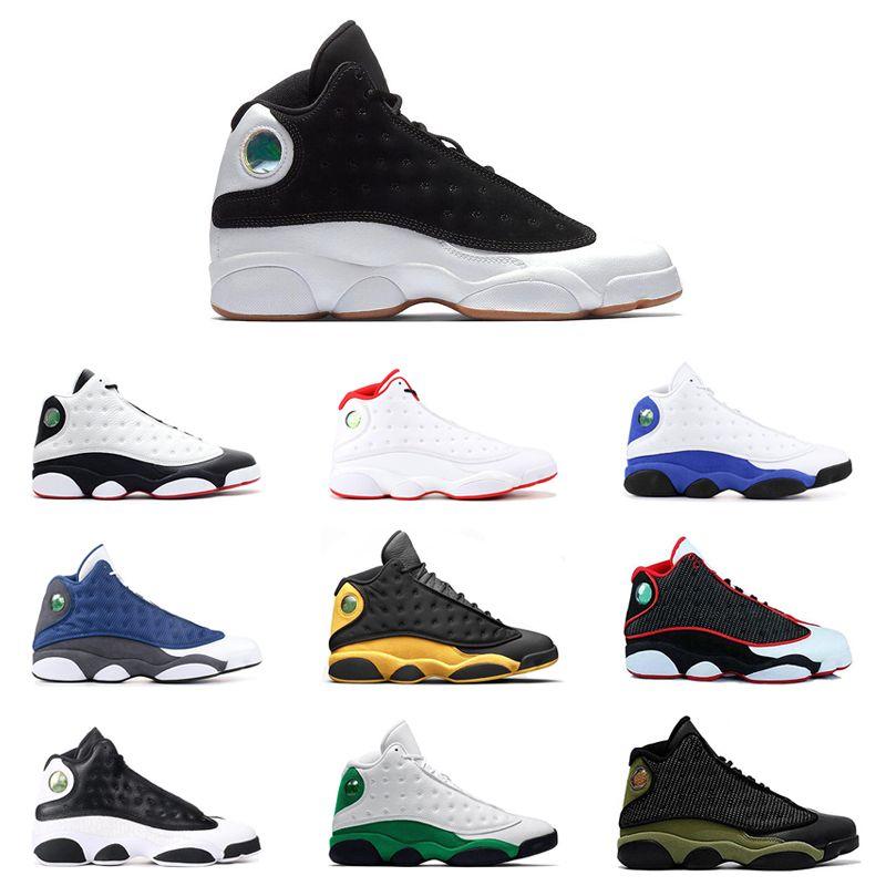 13s Homens tênis de basquete 13 Love Respeito Sorte Verde Rivais tampão e do vestido da cidade do vôo DMP Mens treinadores desportivos Sneakers 7-13