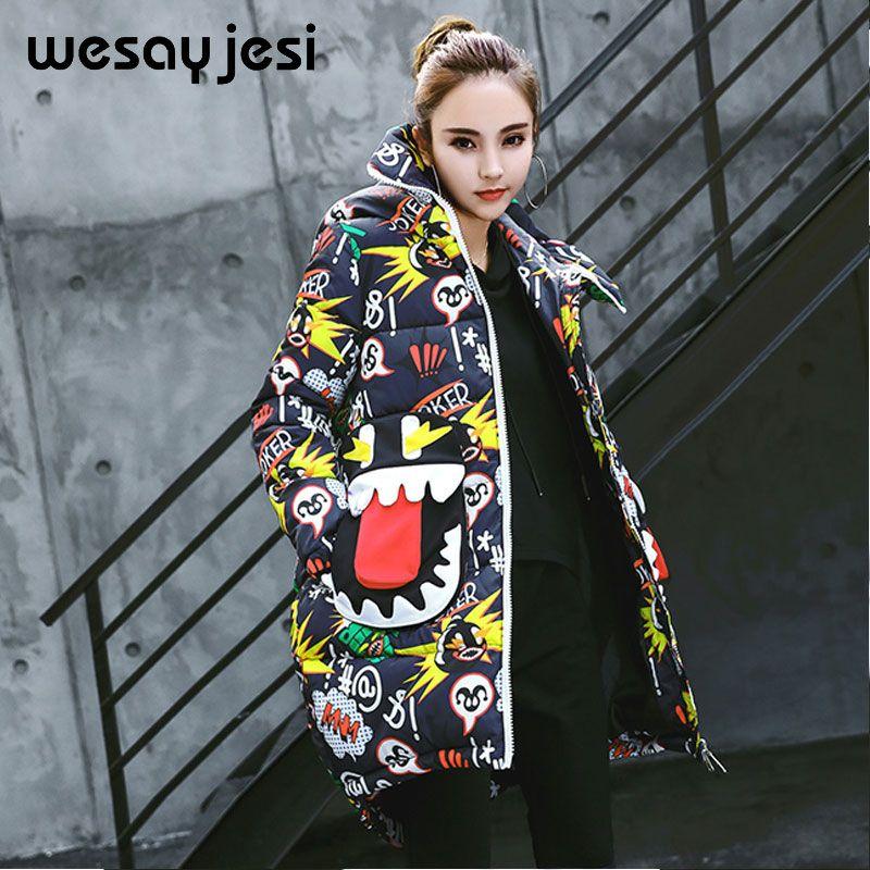 Double warm winter coat thickened parka women stitching slim long winter coat down cotton ladies down parka down jacket women