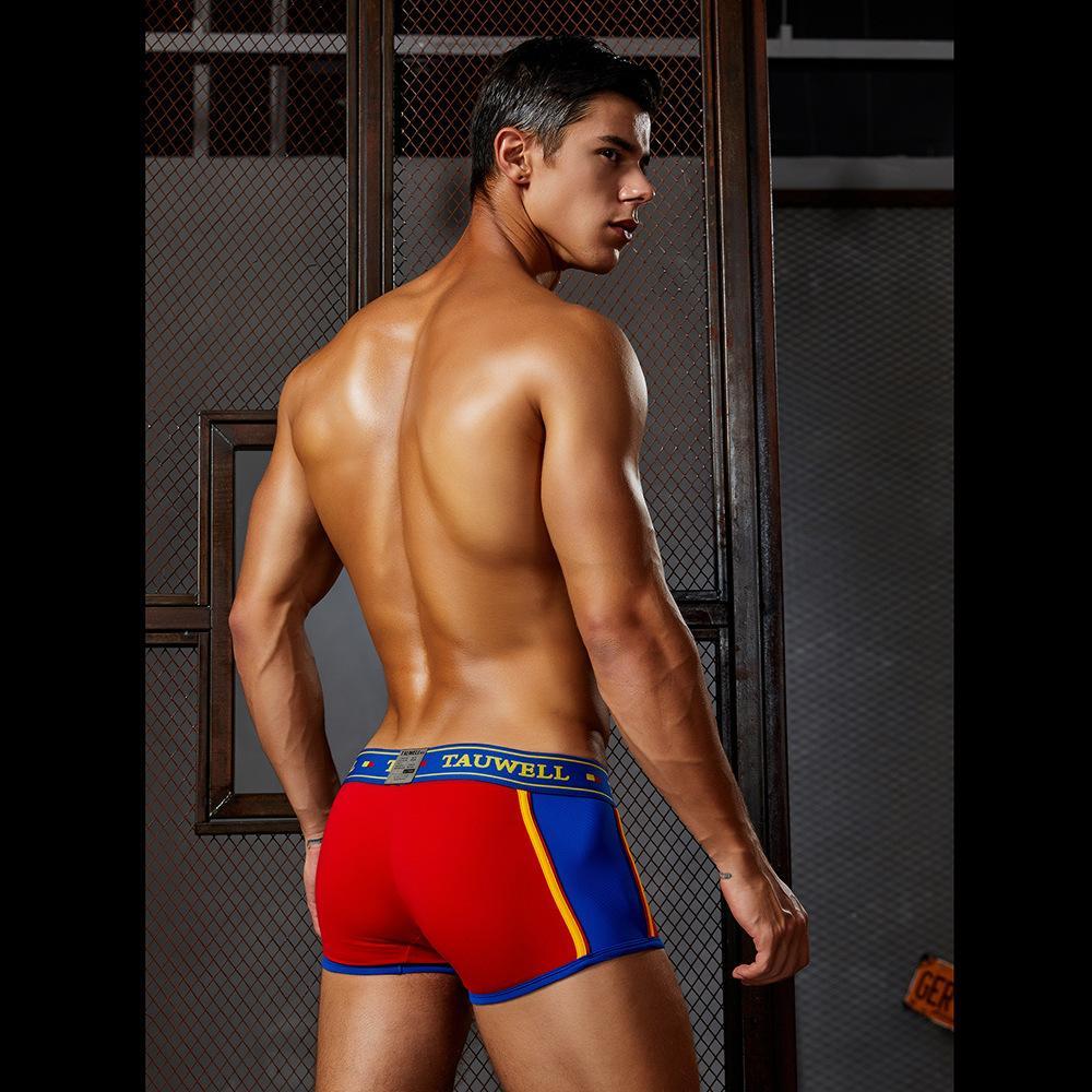 erkek spor rahat nefes boksör pantolon renk eşleştirme iç çamaşırı designertauwell