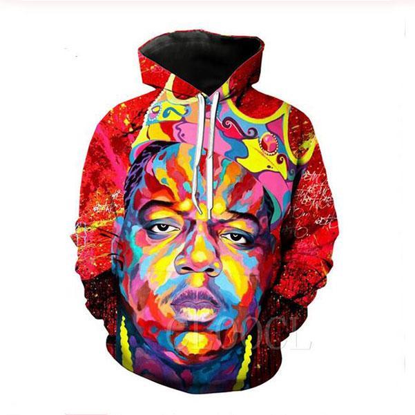 Hot Fashion Men Hoodies Notorious B.I.G. 3d HD Print Casual Hoodies Sweatshirts Couple Tracksuits Women Hoodies PR0122