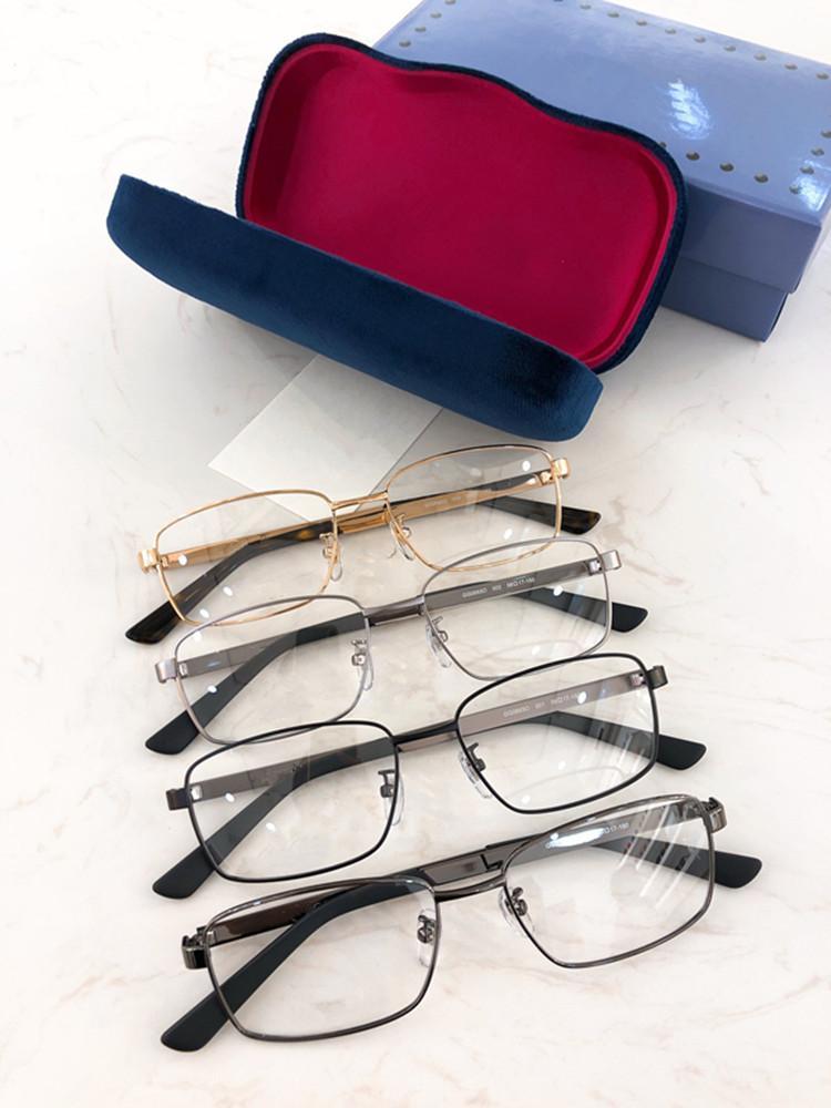 2020 Luxe G0693O Hommes métalliques Fullrim verres optiques bande cadre 56-17-150 hommes classiques decorationLeg pour les lunettes de prescription Fullset CAS