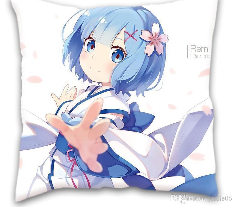 Anime Yastık kılıfları Polyester Şeftali Baskılı Yastık Kapak Dekoratif yastık kılıfı 15.8x15.8 inç 17.7X17.7 inç Ev Tekstili