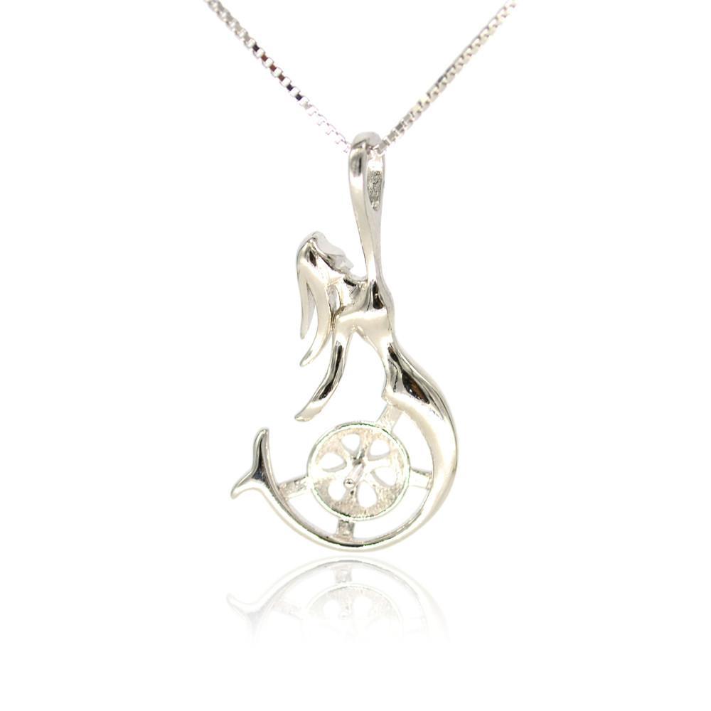 Whloesale S925 стерлингового серебра кулон крепления русалка кулон крепления для женщин жемчужные украшения diy бесплатная доставка