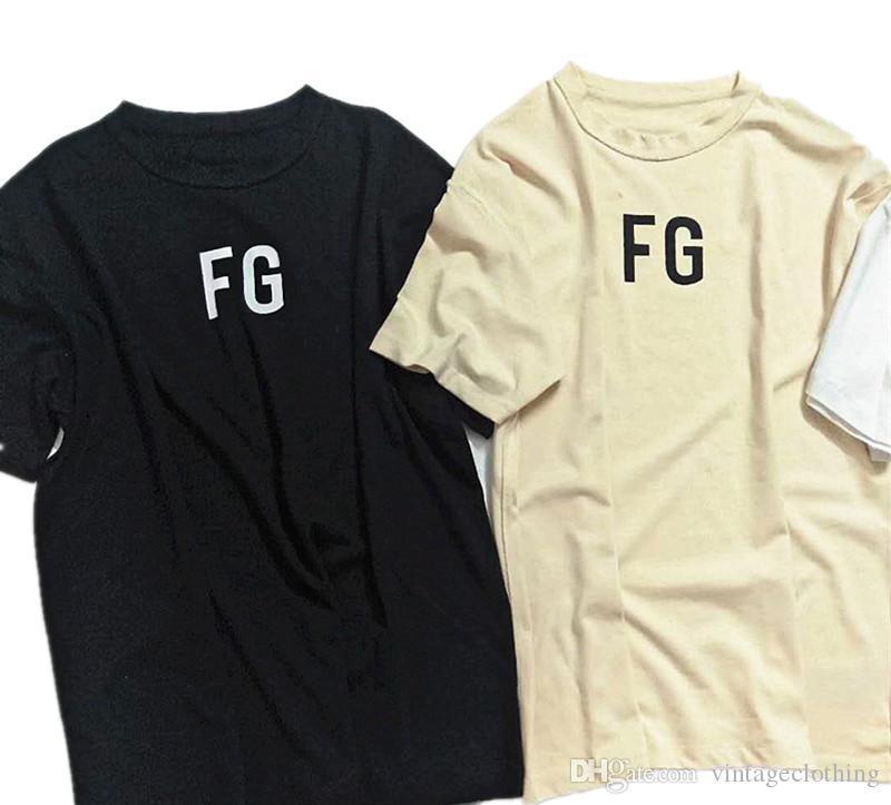 Fog Essentials-FG Männer T-Shirts Sommer-T-Shirt Men Kurzarm beiläufige Baumwolle Designer Tops Tees Männer