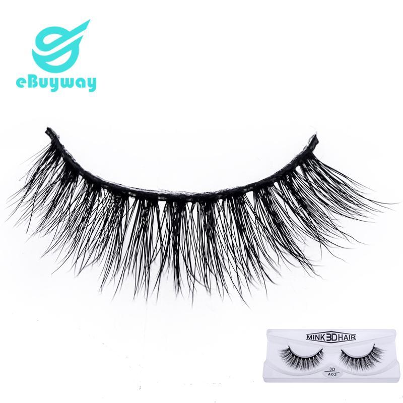 Korean PBT Fiber Single Pair 3D mink eyelashes makeup tools 3D False Eyelashes For Party with box
