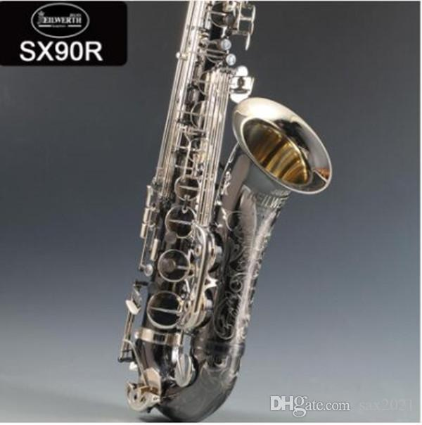 95% cópia instrumento Alemanha JK SX90R Keilwerth Tenor saxofone preto Tenor Sax Top Professional Musical com caso frete grátis