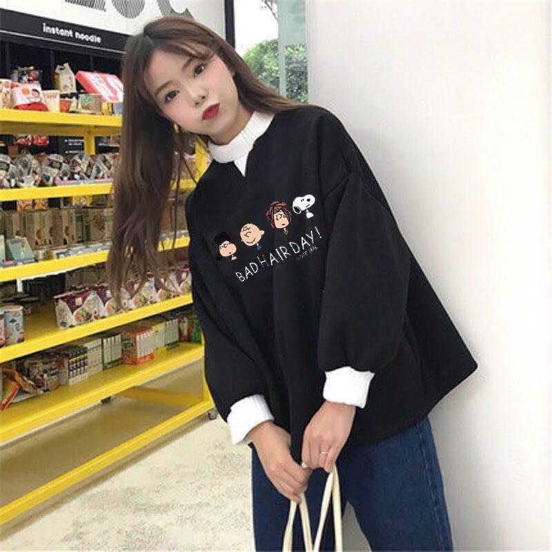 Femmes Mode Hauts Automne Dames Kawaii Étudiants Sweat à capuche Vêtements pour dames Pulls filles mignonnes coréenne Streetwear CJ191225