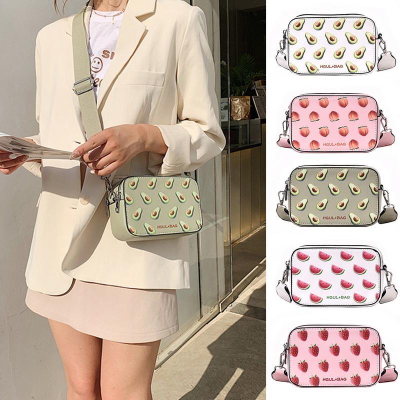 Handtasche Kleine Box-Form-Schultertasche Erdbeere Crossbody Beutel Watermelon Fashion Messenger