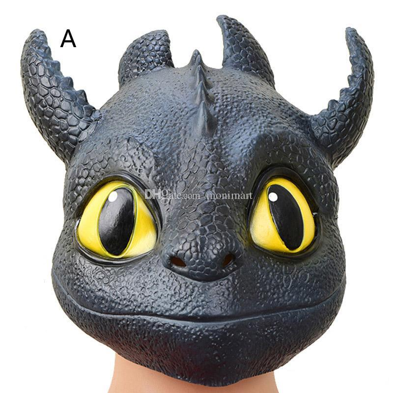 2020 How To Train Your Dragon 3 Headgear Masks Halloween Party Cosplay Head Mask Kids Toy 2 Styles From Monimart 9 85 Dhgate Com