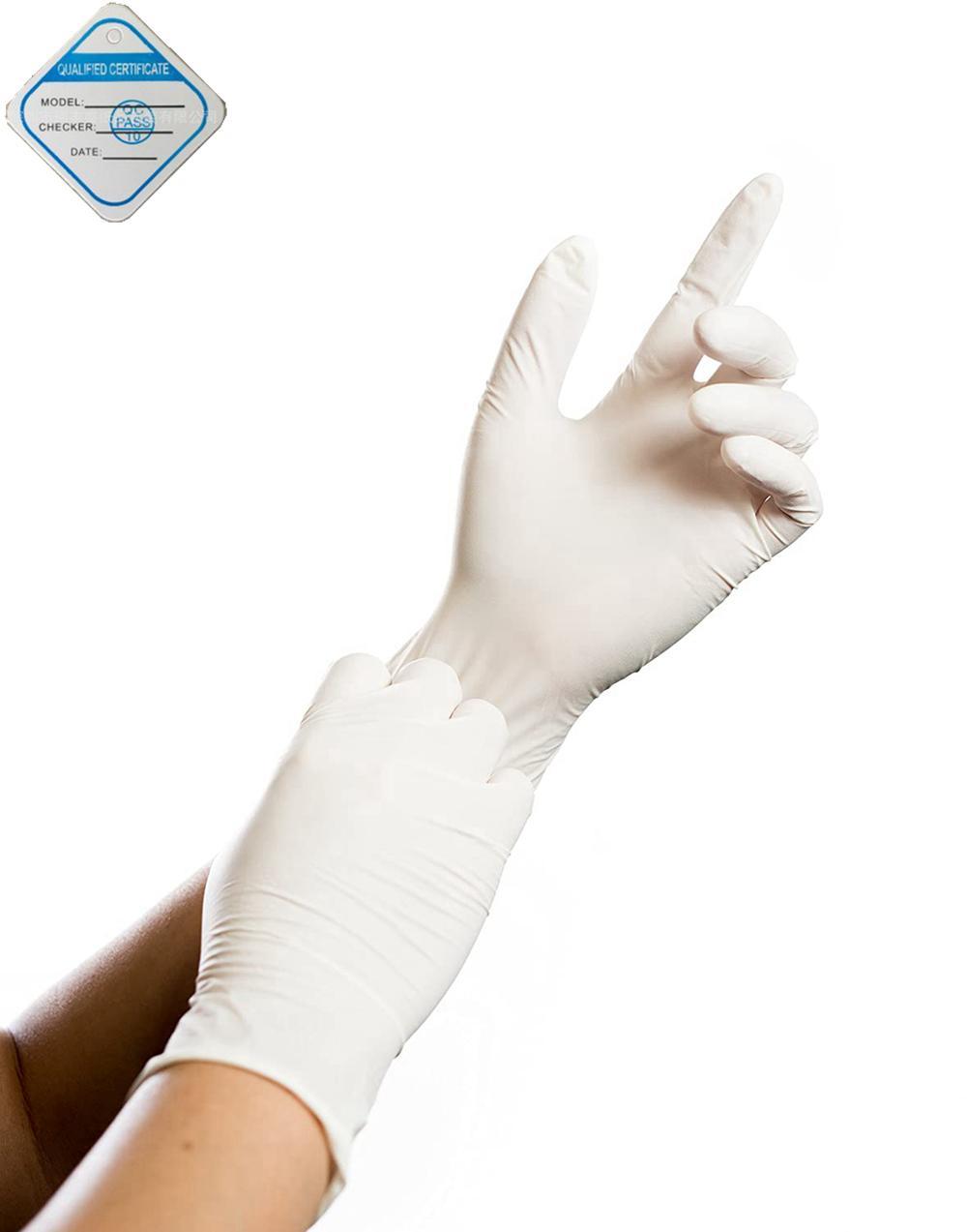 """Костюм для чистых помещений Совместимость Перчатки неопудренные текстурированные нитриловые, 10"""" Длина, Medium, White (Pack 100)"""