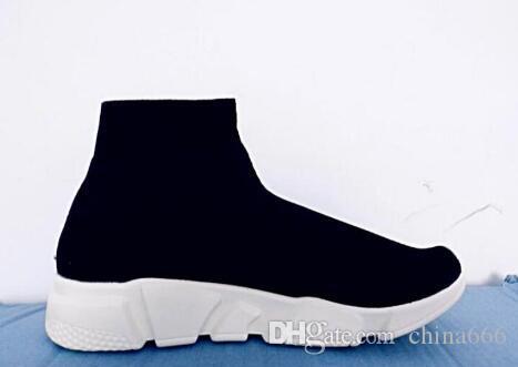 2020 خصم سرعة المدرب الأحذية الجوارب تمتد متماسكة عالية أعلى مدرب أحذية رخيصة حذاء رياضة أسود أبيض امرأة رجل الأزواج الأحذية عارضة الأحذية
