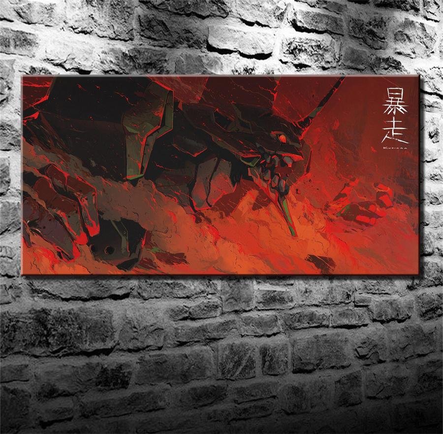 neon genesis evangelion,HD Canvas Printing New Home Decoration Art Painting/(Unframed/Framed)