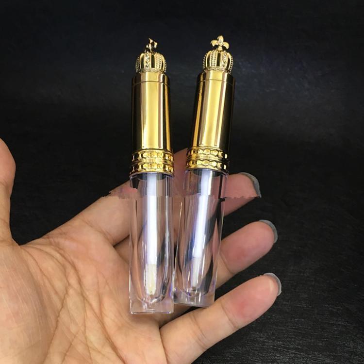 20 / 50pcs 8ml Gold Crown Cosmetic Lip Gloss Bacchetta tubo vuoto trucco libero Lipgloss del rossetto scovolino fai da te Bellezza ciglia bottiglia