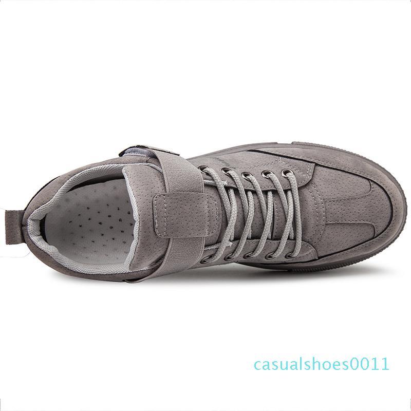 Moda primavera calzados informales 50% Ulzzang zapatillas hombres zapatos de suela plana cuerda sólido c11 color del otoño resistente calzado zapatillas de deporte del patín Suedette