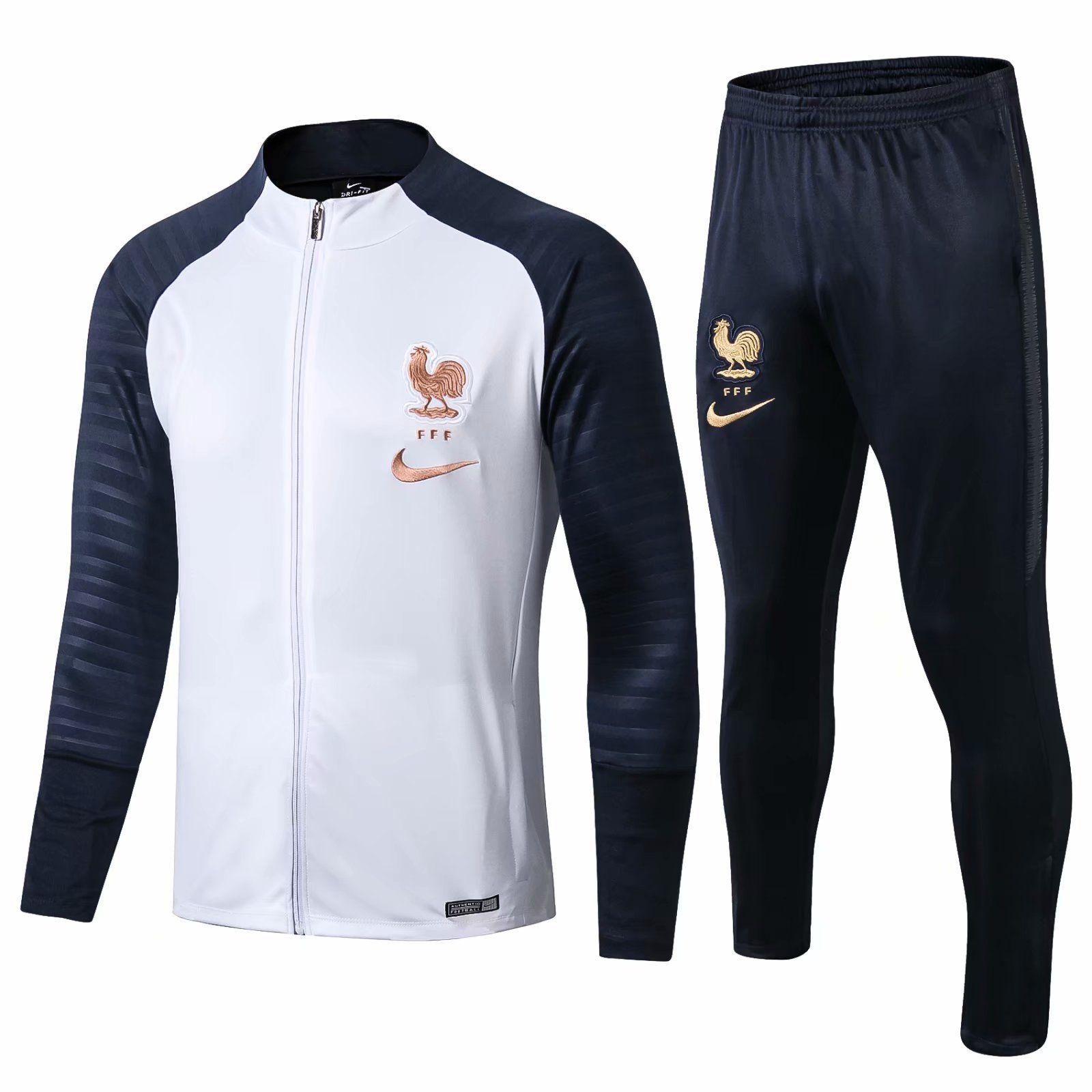 Бестселлеры 19 20 Национальная команда 2 звезды Спортивная куртка Мбапе Спортивные костюмы Griezmann Jogging Jerseys Giroud POGBA maillots de football