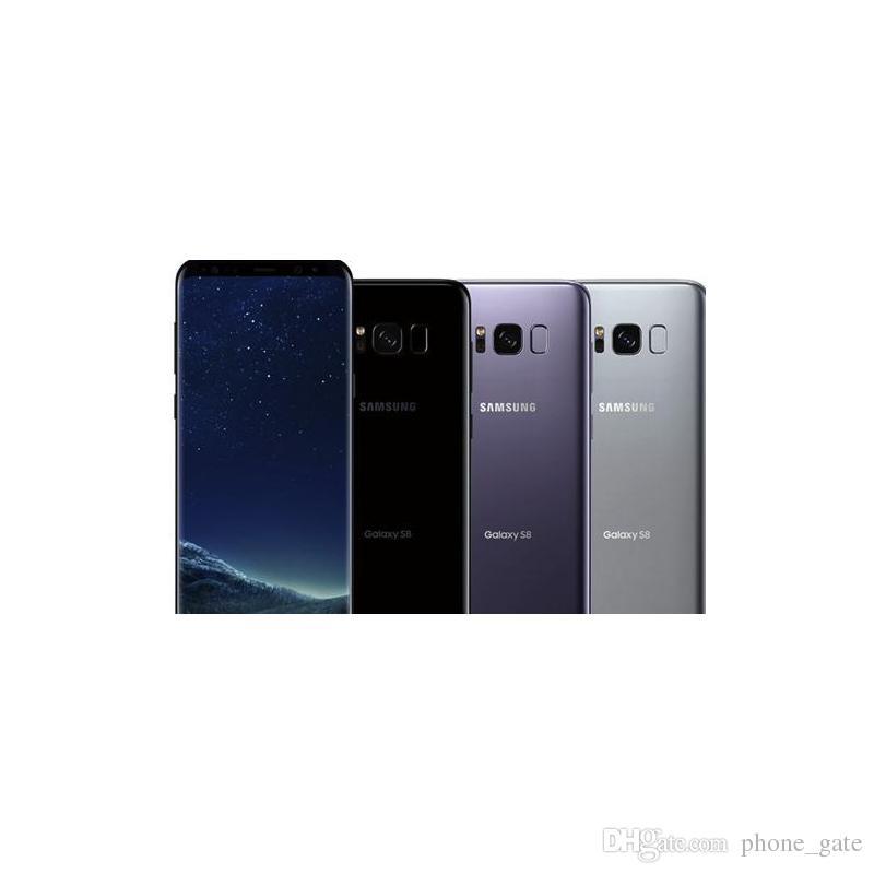 """원래 삼성 갤럭시 S8 G950U 잠금 해제 휴대 전화 RAM 4기가바이트 ROM 64기가바이트 안드로이드 7.0 5.8 """"2960x1440 12.0MP이 단장 전화"""
