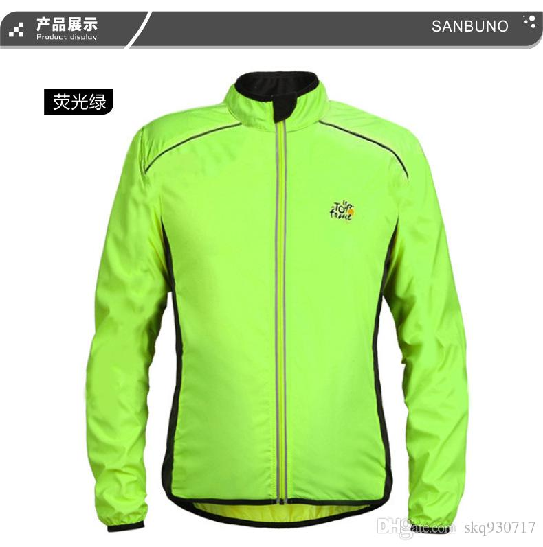 Jacket Cycling Clothing Sports Wind Coat Jersey Reflective Vest