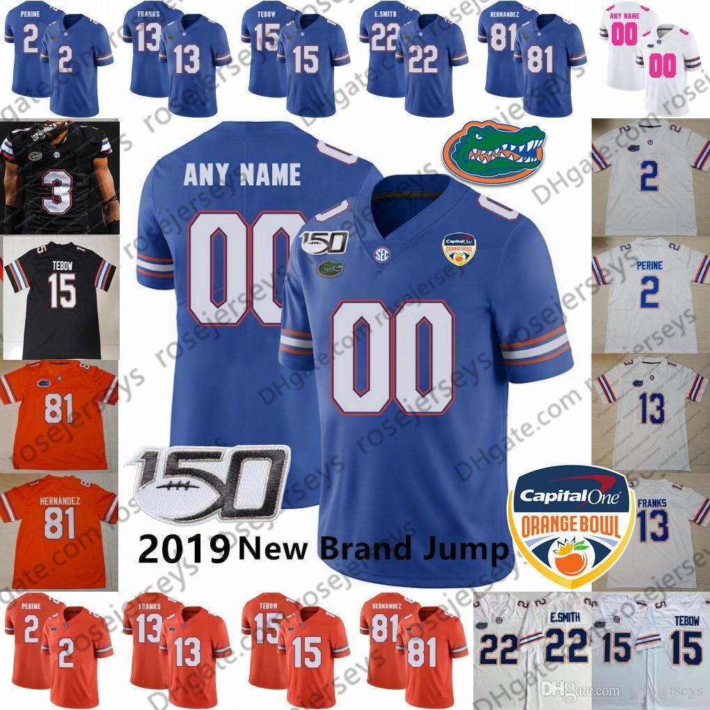 Individuelle Florida Gators Football 2020 Black 11 Kyle Trask Aaron Hernandez Toney Perine Tim Tebow Pitts Swain Copeland Orange Blau Weiß Jersey
