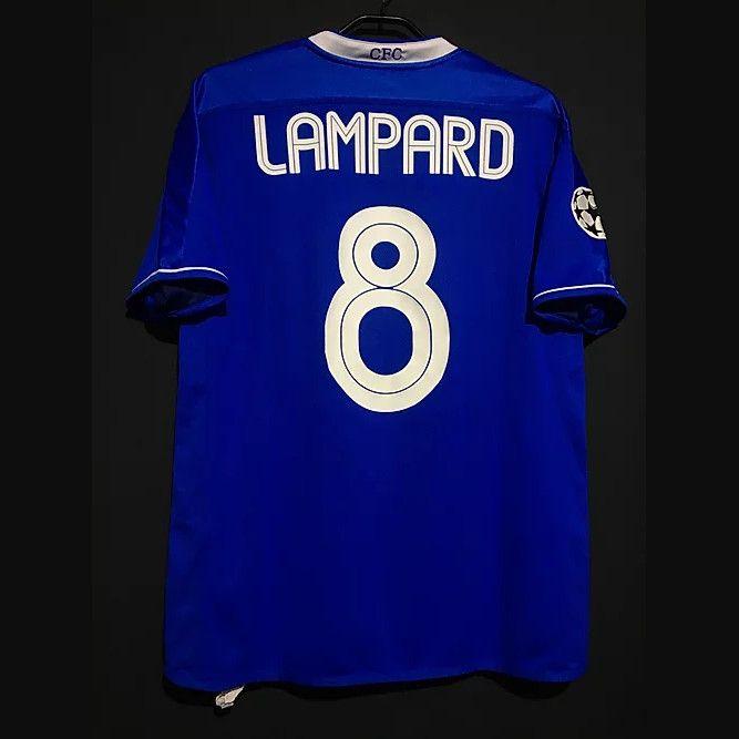 Retrô Lampard Drogba Crespo Terry Veron Cole Robben Kezman Futebol Jerseys Camisa Vintage Kit de futebol clássico