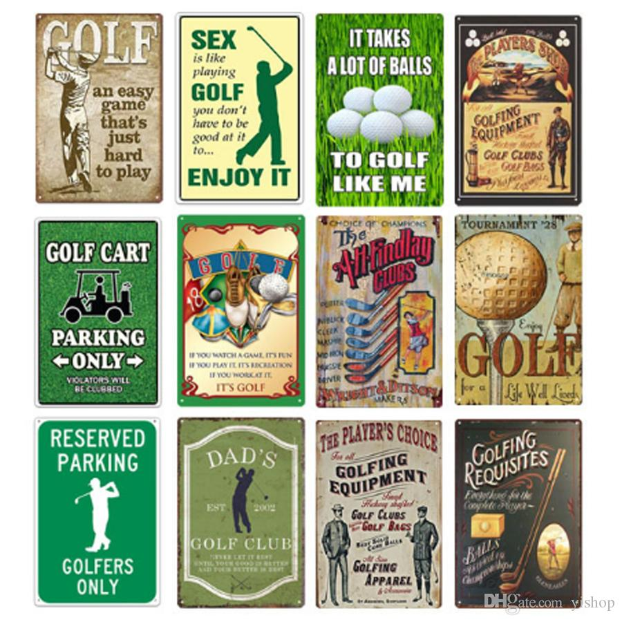 32 3232cm Golf Club Playing Golf Metal Tin Signs Vintage ...