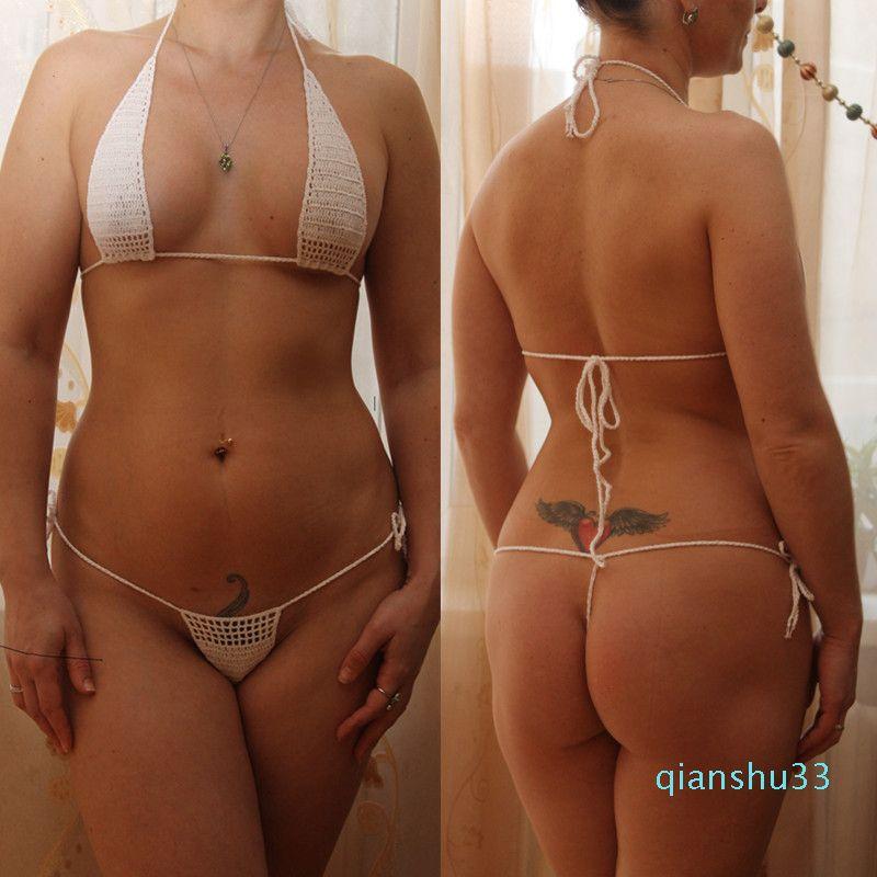 All'ingrosso-13 colori a mano all'uncinetto Imposta bikini prendere il sole donne calde sexy micro Swimwear Mini Lingerie