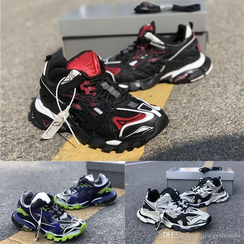 Top-Qualität Veröffentlichungsstrecke 4.0 Gomma Maille Laufschuhe Paris-Mann-Schienen 3M Triples Laufschuhe Outdoor-Jogging-Designer-Schuhe Sneakers