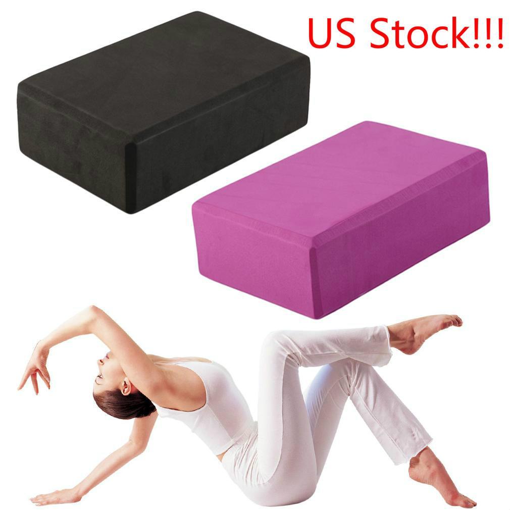 US Stock Aerobic Practice Fitness Gym Sport Tool Yoga Block Brick Foaming Foam Home Indoor Exercise Supplies FY4060