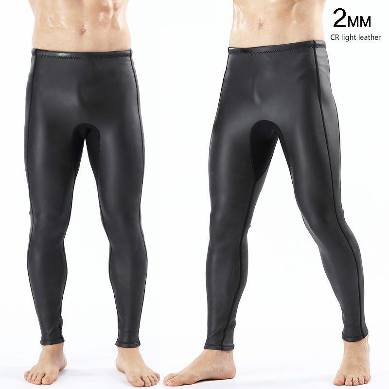 Swim Wear Mens 2MM Triathlon CR Skin Skin Yamamoto Neoprene Pantaloni mutanti da sub / pantaloncini Pantaloni Pantalone Elastico extra Elastico per Guardia Rash Kayak