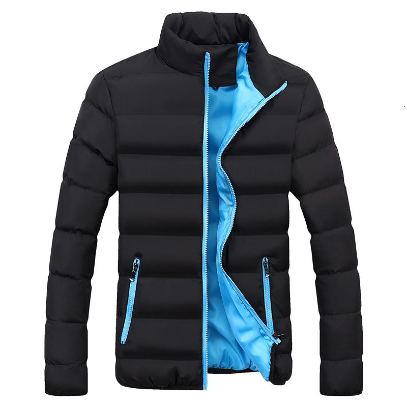 New Men's windbreakers Solid winter jacket men Casual Parkas Men Thermal Coats Slim Fit Thick Warm Men's Coat Brand Clothing 5XL S191019