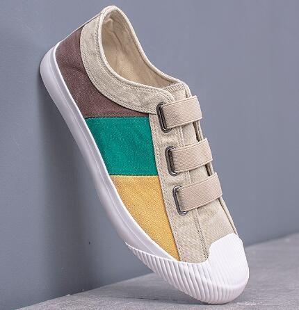 Zapatos de lona de las zapatillas de deporte de ventilación de los hombres de respirable ocasional de la hebilla Zapatos Mocasines para hombre primavera diseñador de los hombres zapatos de los holgazanes