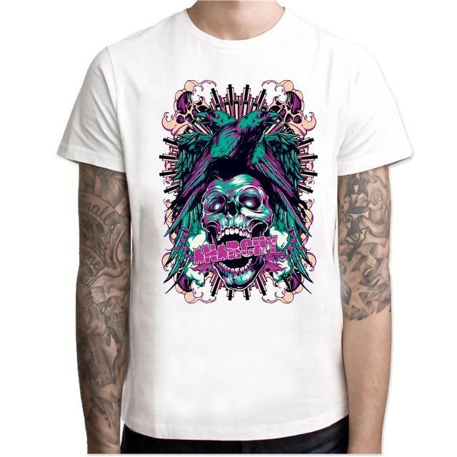 2019 New T-Shirts For Men modello Fashion brand New T-Shirt manica corta O-Collo Tops Tees MC71