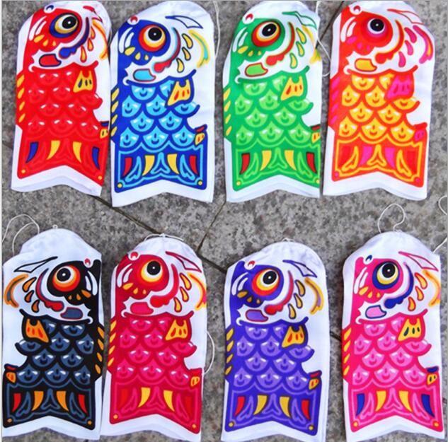 Çocuk Bayramı için Yeni Sevimli Koinobori Japon Carp flama Rüzgar Çorap Koi Nobori Balık Bayraklar Uçurtma Bayrak koinobori