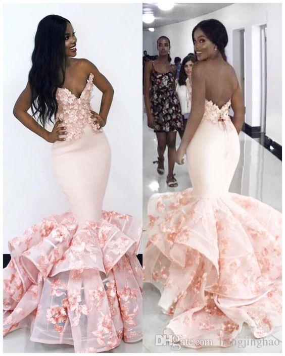 2019 Sexy Strapless Sereia Vestidos de Baile Sem Mangas Vestido De Noite Pageant Trem Da Varredura Dubai Barato Trompete Ocasião EspecialDress Plus Size