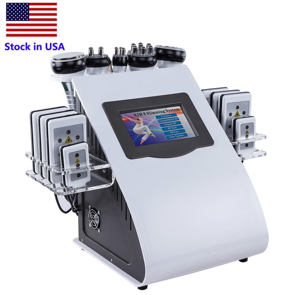 1 개 40K 사러 진공 Cavitation 슬리밍 체중 감량 기계 RF 레이저 엉덩이 리프팅 주름 미용 기기 무료 배송 미국 6 증권
