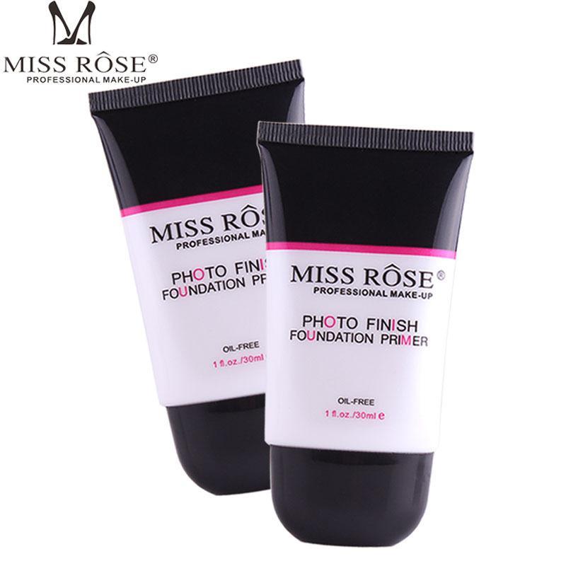 미스 로즈 매트 페이스 파운데이션 프라이머베이스 메이크업 프라이머 투명 투명한 모공 밝게하는 수정 모공 부드러운 매끄러운 피부