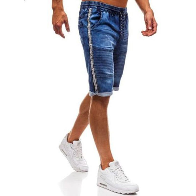 Summer Fashion Casual Slim Fit Denim Short Men's Stretch Short Jeans New Elastic Denim Shorts Male Clothes Pants