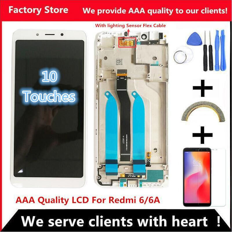 """5.45"""" Quality IPS LCD+Frame For Xiaomi Redmi 6 LCD Display Screen Replacement For Redmi 6A LCD Assembly 1440*720 Resolution"""