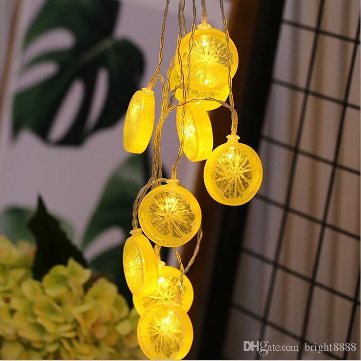 20LED limon dilim ışık dize Canlı arka plan duvar net kırmızı ışık Tricolor meyve dekoratif dize ışık