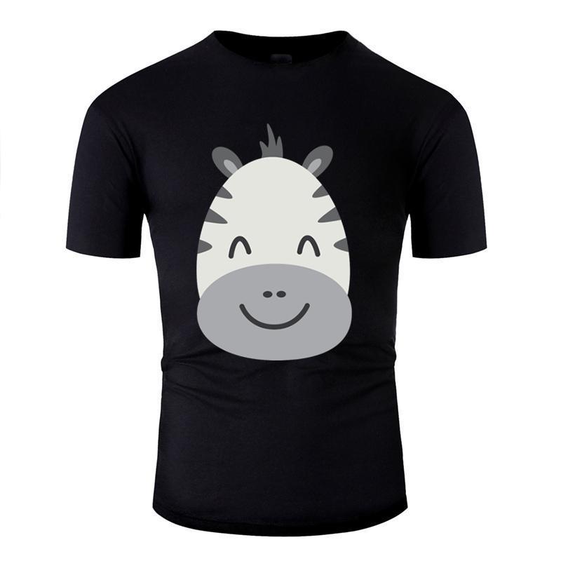Zollie Zebra T-Shirt für Herren aus 100% Baumwolle Fitness-Jungen-Mädchen-T-Shirts Runde Kragen Männliche Aufmaß S-5xl T Tops