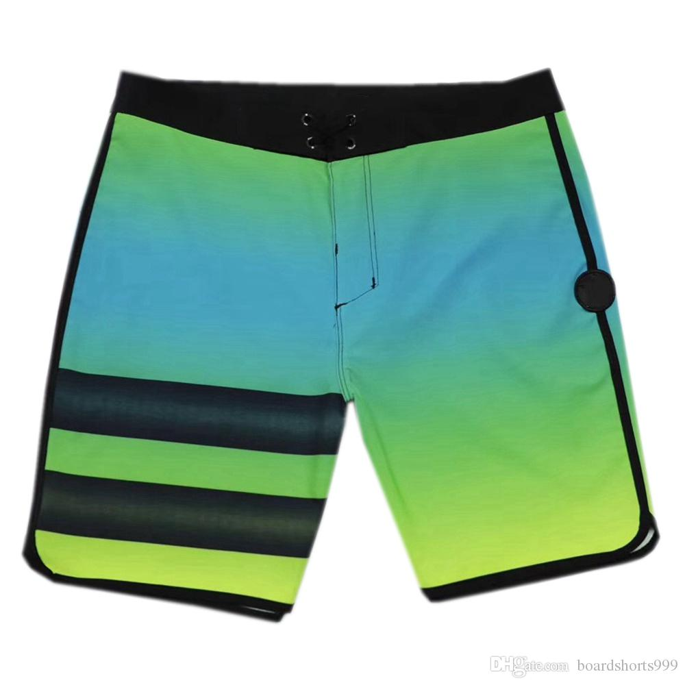 Awesome 4-Way Stretch Fashion Shorts Mens Spandex Swim Trunks Quick Dry Surf Pants Loose Beach Pants Bermudas Shorts Board Shorts SZ30-36