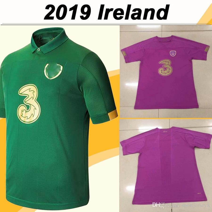 2019 European Cup COLLINS McGOLDRICK Mens Soccer Jerseys Ireland National Team Home Green Kids Kit Football Shirts Uniforms