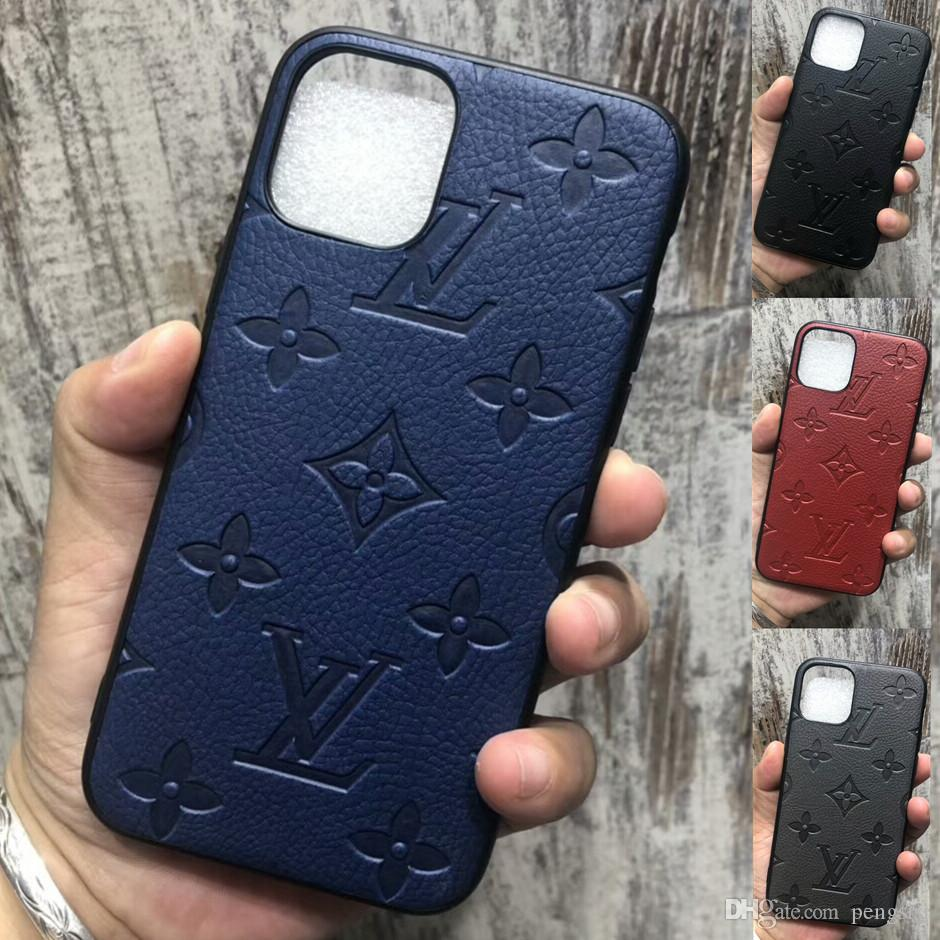 Casos top designer para iPhone X Xs Max XR 8/7 Além disso Phone Case Monogram marca Capa para iPhone 11 Pro Max Mobile Shell